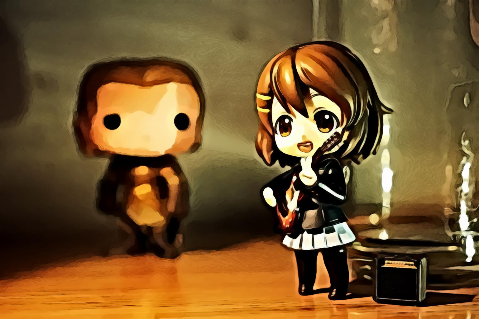 Brown Haired Female Anime Character Figure