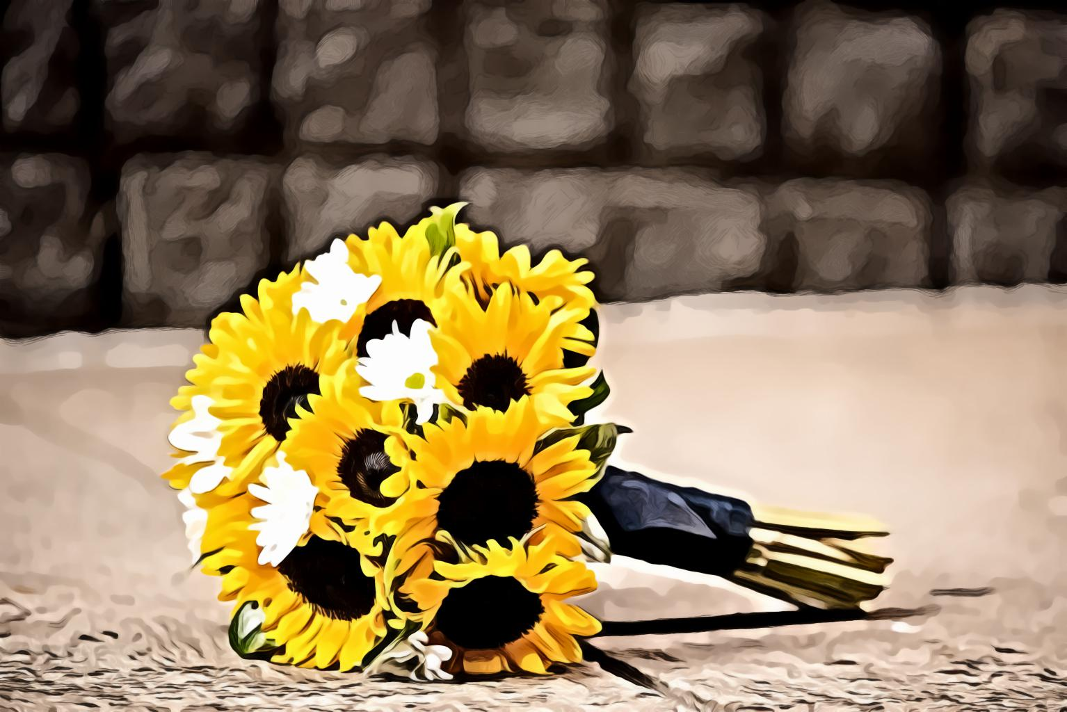 Yellow Sunflowers Bouqet