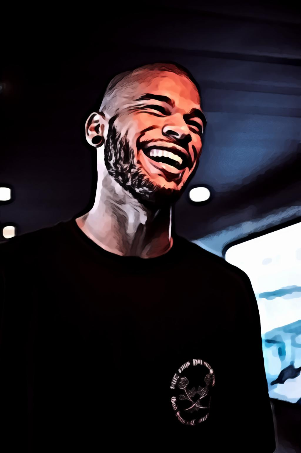 Portrait of Laughing Guy