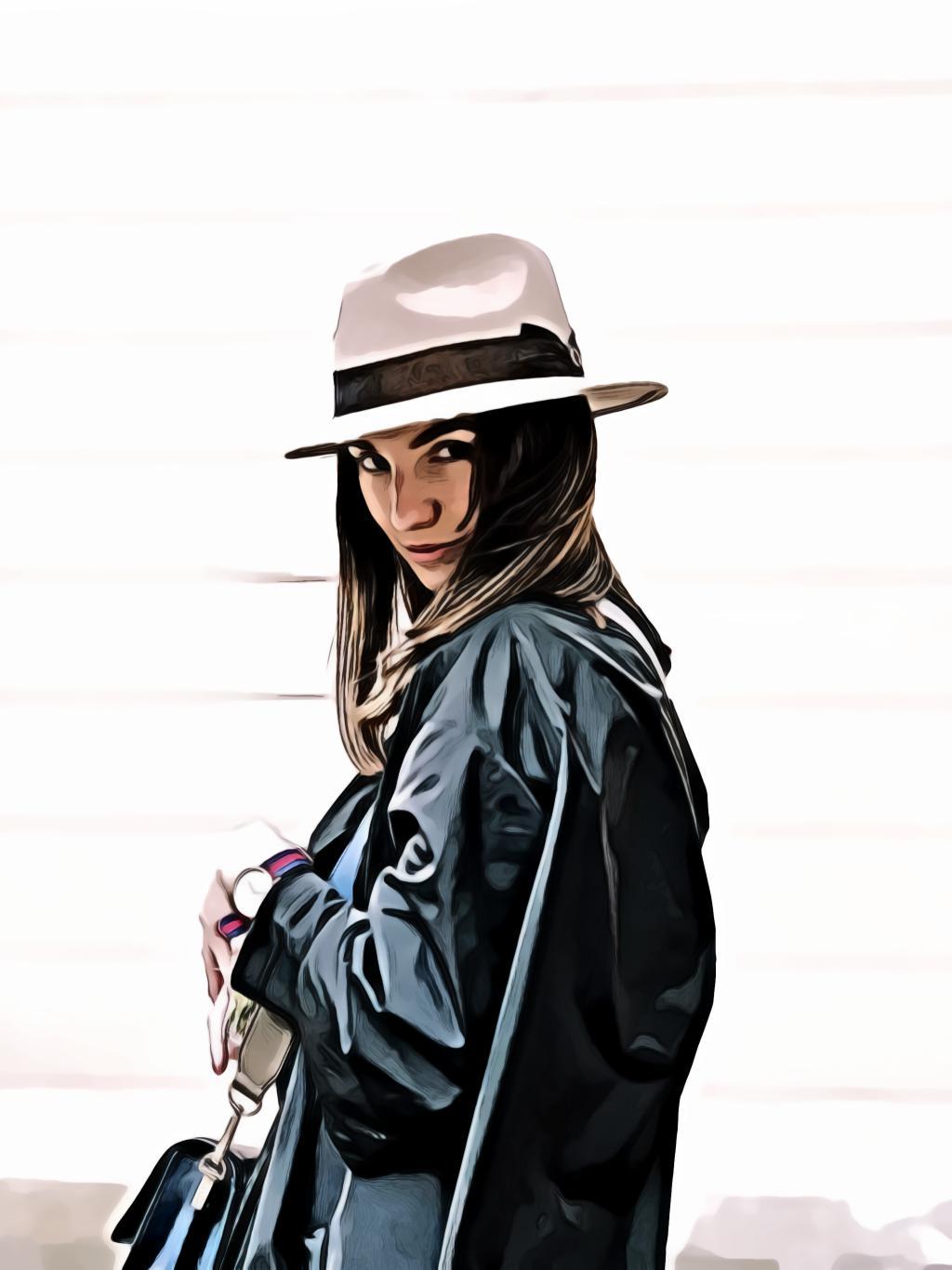 Woman Wearing Fedora