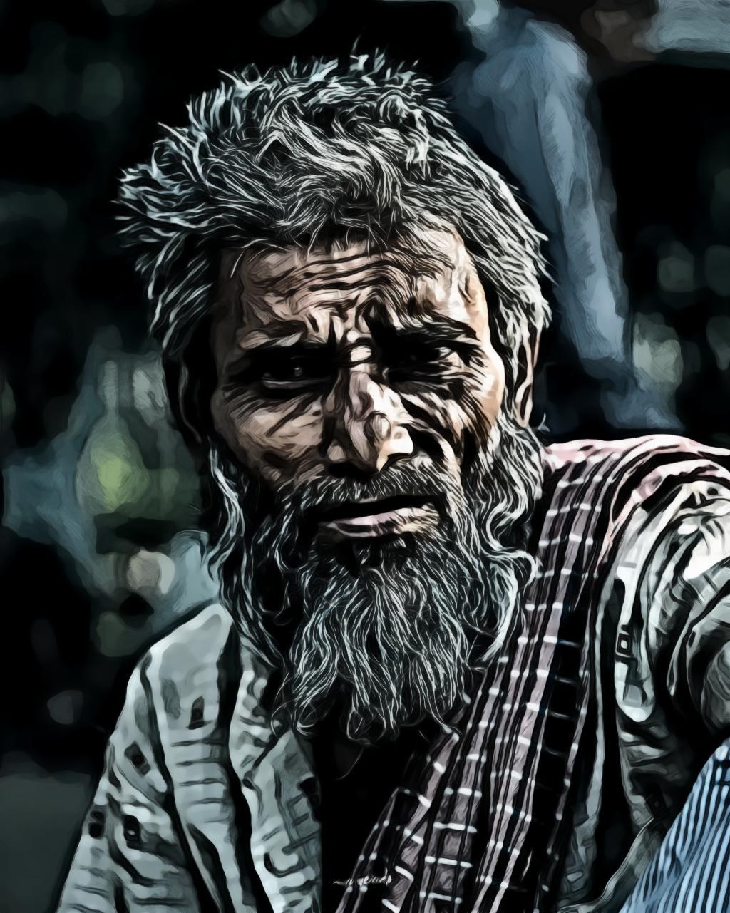Aged beard elder man