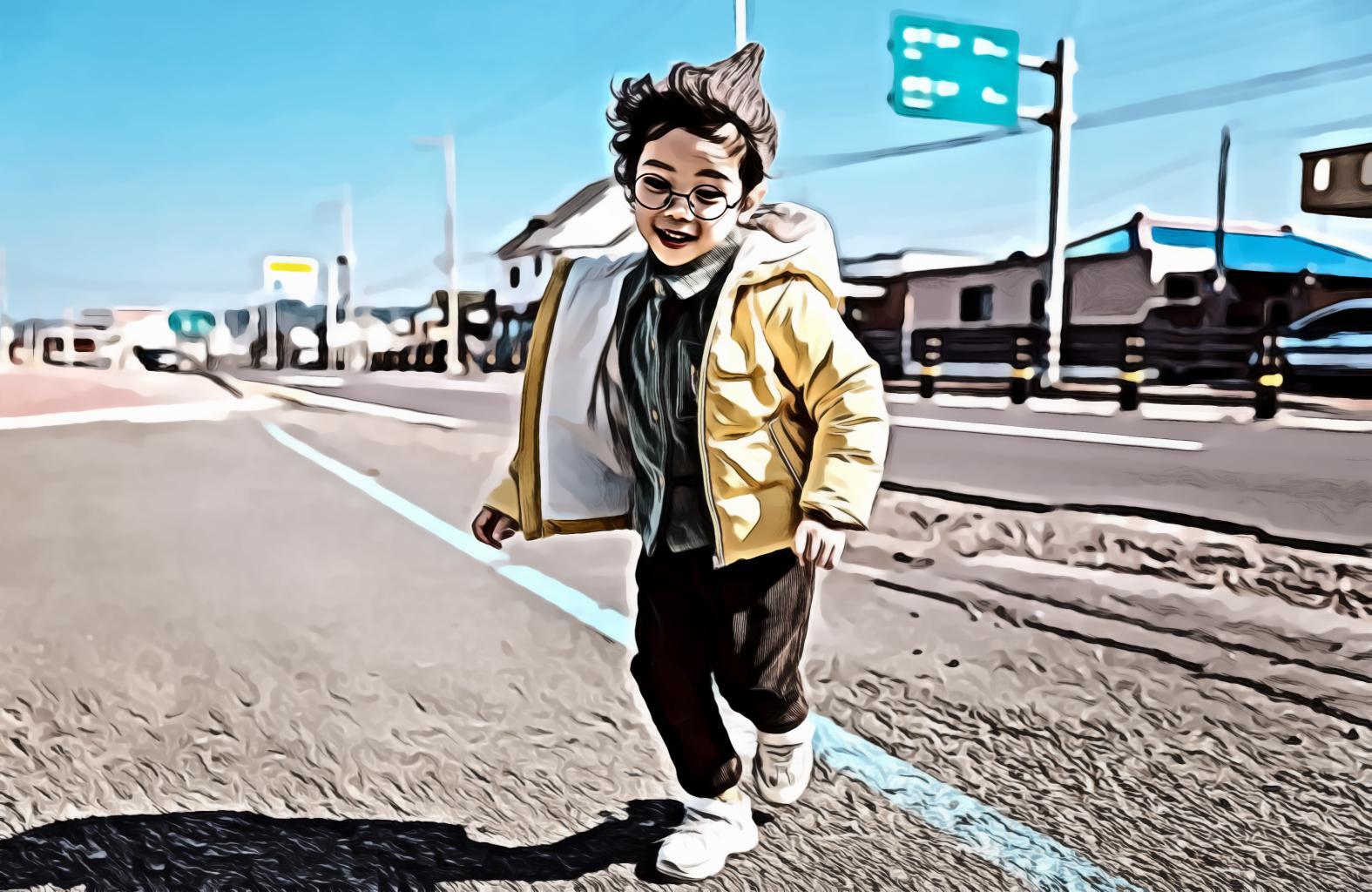 Boy Wearing Beanie