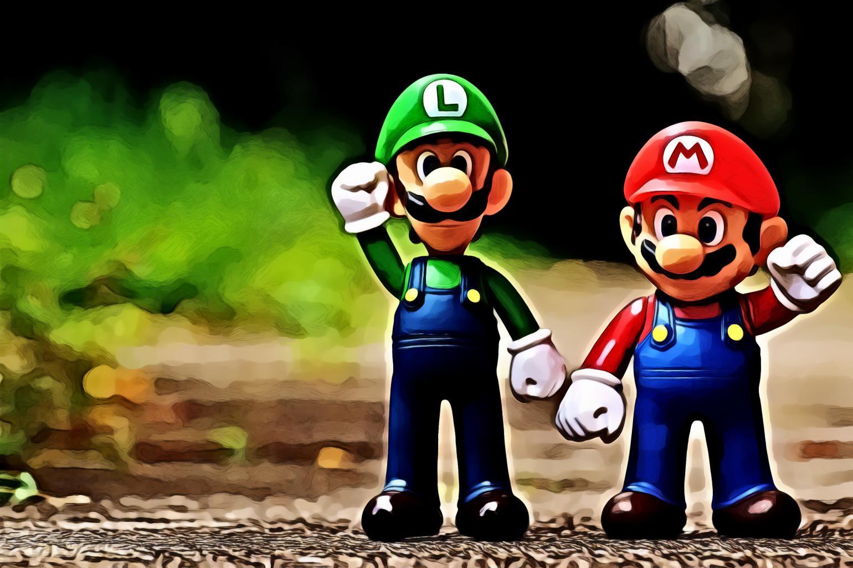 Mario and Luigi plastic toy