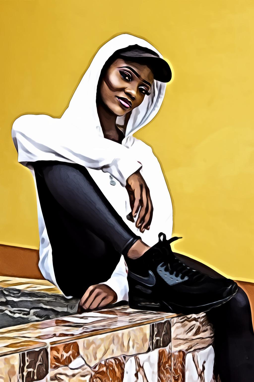 Black woman wearing hoodie jacket