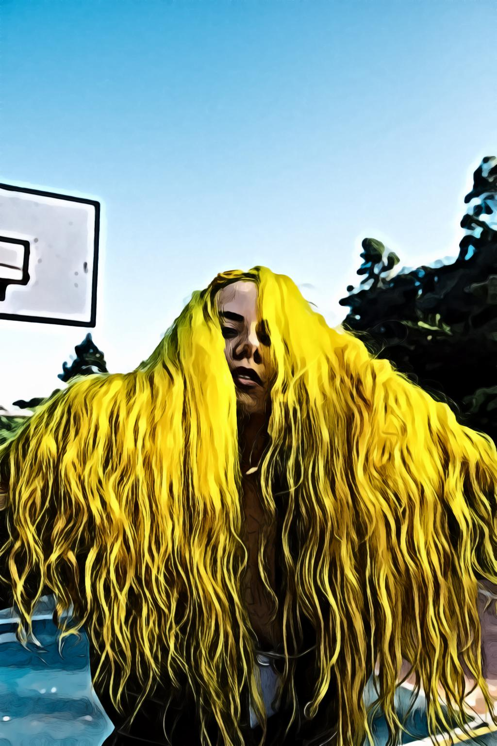 Woman with yellow hair