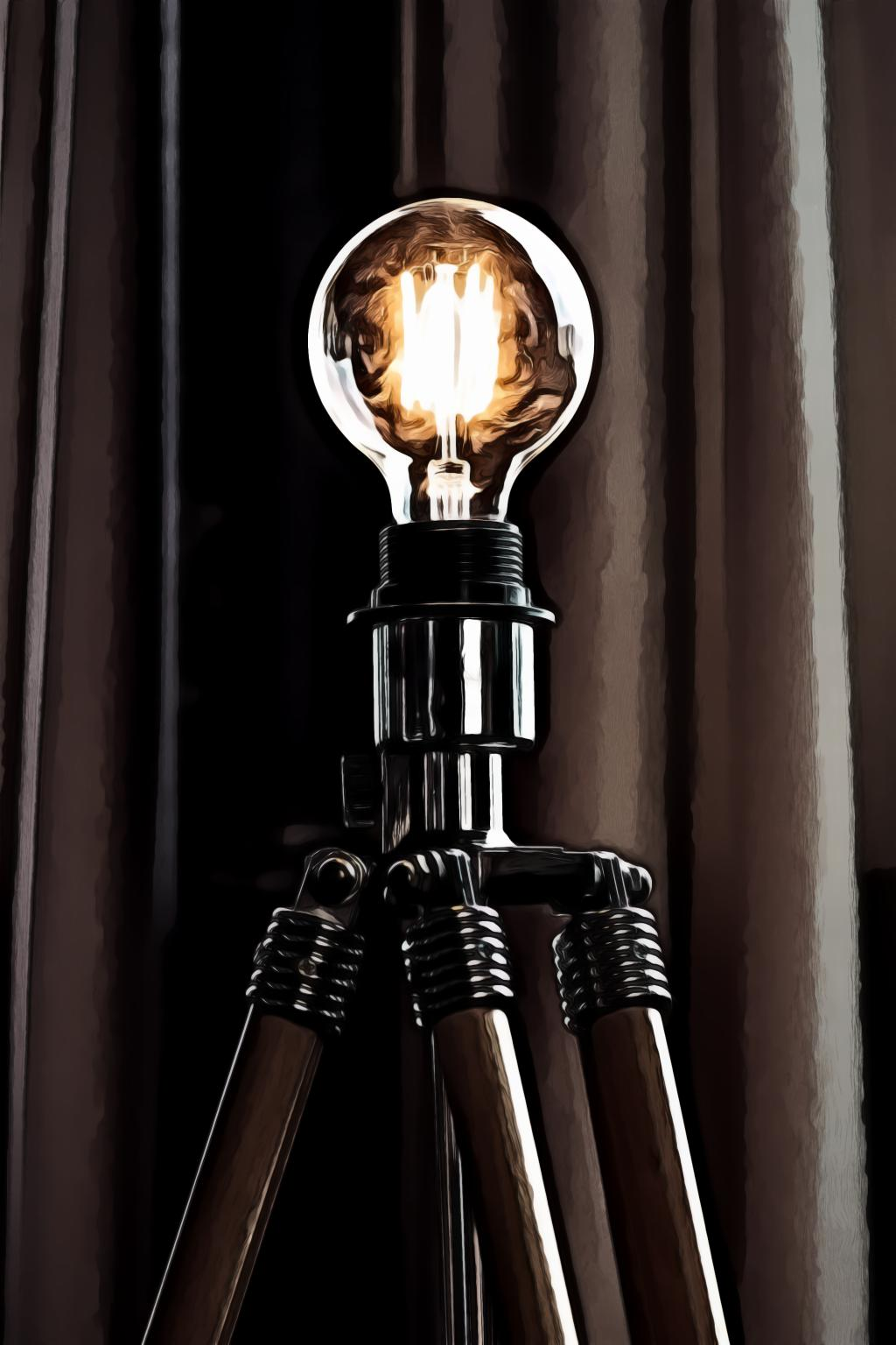 Well lit light bulb